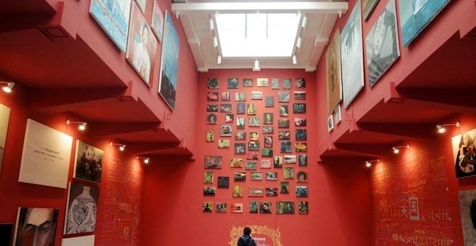 楼房展览室手绘效果图